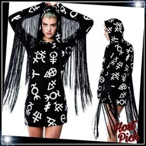 New! Killstar Long sleeved bodycon Dress Sz: L & M